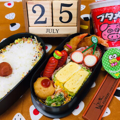 Sanrioフルーツゼリー/3coins/ブタメンとんこつ味/主人弁当/フォロー大歓迎/お弁当/...             7/25(木) …