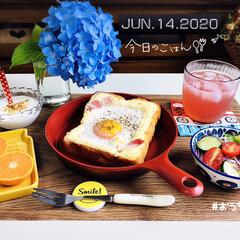 アセロラ ビタミンC/フォロー大歓迎/マーコット/エッグトースト/パン/至福の時間/...         6/14(日) 朝食  …