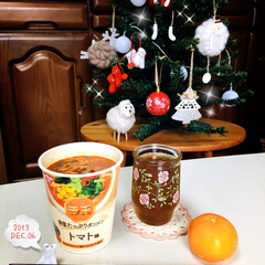 おうちごはん/昼食/カップ麺/NISSINラ王 野菜たっぷりタン.../クリスマスツリー/ハンプティーダンプティー/...         12/6(金) 昼食  …