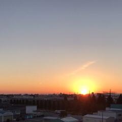 風景 1日の終わり。 夕空が綺麗で仕事終わりに…
