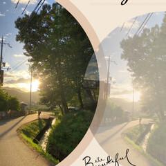 朝焼け/夕日/フォロー大歓迎/至福のひととき/風景/暮らし/... 台風 ☔➰🌀前の夕日と朝焼けです。  夕…