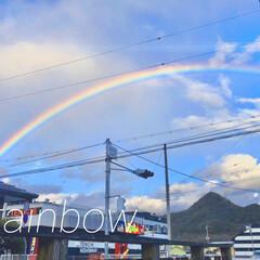 rainbow/願い事/普通の日常/虹/暮らしを楽しむ 今日の午後4時50分頃、とっても大きな🌈…