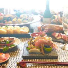 おせち料理/冬 毎年恒例おせち作り  今年は石のお皿で♡…(1枚目)