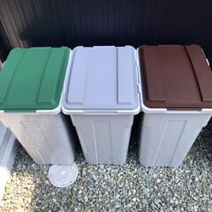 45リットル/ゴミ箱/フォロー大歓迎/住まい ゴミ箱問題、やっと解決😁 45リットル、…(1枚目)