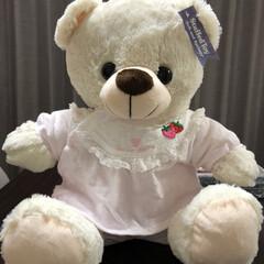 新生児用ベビー服リメイク 孫のベビー服をくまのお洋服にリメイク。く…