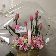 春の一枚 娘の高校の卒業式の日、妹からお花が届きま…
