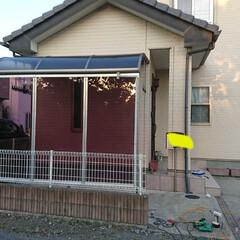 自転車置き場/DIY/住まい/建築 屋根のみだった自転車&バイク置き場にDI…(4枚目)
