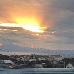 風景 夕陽が綺麗なので。
