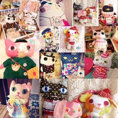 猫ドール/着せ替え人形/人形/ハンドメイド/犬/猫/... これまでにつくった人形さんたち。ちくちく…