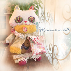猫人形/ねこ雑貨/ドール/DIY/雑貨/ハンドメイド/... 世界にひとつだけ、おもいで人形です。 先…