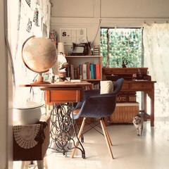 仕事部屋/DIY/収納/雑貨/住まい/レトロ/... 仕事部屋です。