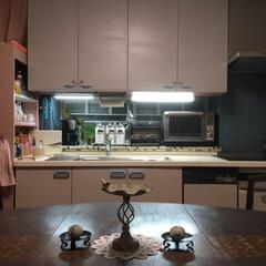 ターナー色彩 オールドウッドワックス アンティークグレー 350ml | ターナー(ワックス)を使ったクチコミ「我が家のキッチンはI型キッチンです。 な…」(6枚目)