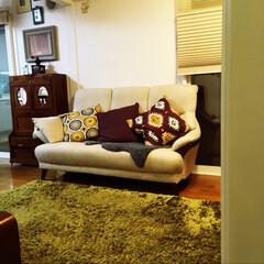 クッションカバー/アフリカン/秋/インテリア/雑貨/家具/... クッションカバーで模様替え しました。 …