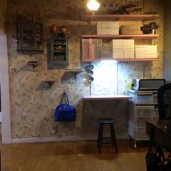IKEA/インテリア/DIY/雑貨/無印良品/ニトリ/... ガチャ棚取り付け my desk完成  …
