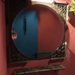 モロッコ風/ミラー/石膏ボード用フック/decolfaマステ/decolfa/夏水組/... 今日は我が家の「ブラケット」使いをご紹介…