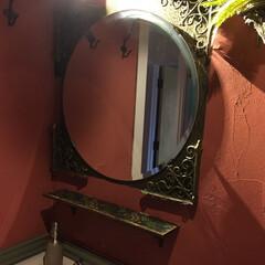 モロッコ風/ミラー/石膏ボード用フック/decolfaマステ/decolfa/夏水組/... 今日は我が家の「ブラケット」使いをご紹介…(6枚目)