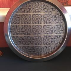 DIY/雑貨/イケア/#モロッコ雑貨#モロッコ風#dec... IKEAで購入したシンプルなトレーをモロ…(4枚目)
