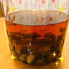梅酒 ブランデー梅酒 完成🎵  美味しいです❣…