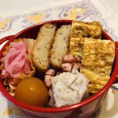 おうちごはんクラブ/LIMIAごはんクラブ/娘弁当/ウインナー/ミニトマト/卵焼き/... 今日のお弁当  コロッケ 焼売 卵焼き …