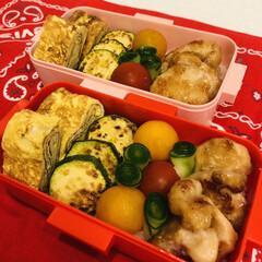 おうちごはんクラブ/LIMIAごはんクラブ/きゅうり/ミニトマト/卵焼き/自分弁当/... 今日のお弁当  鶏胸肉のマヨ麺つゆ焼き …