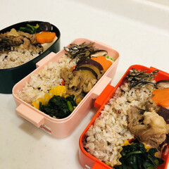 田作り/ほうれん草/高野豆腐/豚肉/さつま芋/娘弁当/... 今日のお弁当  豚肉とさつま芋の煮物 ほ…