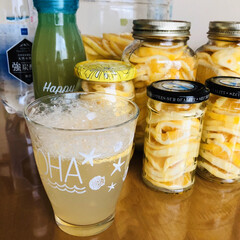 炭酸水/レモン/セリア 先日投稿した レモンシロップ できました…