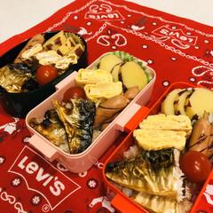 レモン/さつま芋/鯖/自分弁当/娘弁当/ミニトマト/... 今日のお弁当  焼き鯖 卵焼き さつま芋…
