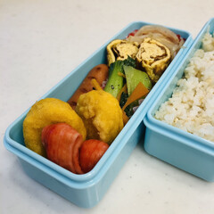 もやし/人参/青梗菜/ウインナー/チキンナゲット/カニカマ/... 今日のお弁当  チキンナゲット ウインナ…