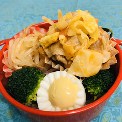 人参/玉ねぎ/キャベツ/豚肉/トマト/お酢/... 今日のお弁当  フレッシュトマトと豚肉野…