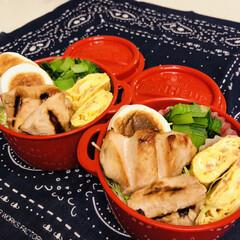 お弁当/料理/作り置き/わたしのごはん 今日のお弁当  鳥照り焼き 小松菜のおひ…