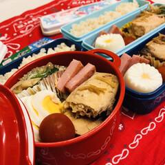 ゆで卵/ボヌール/セリア/わたしのごはん/メカジキ/ハム/... 今日のお弁当  ハム メカジキの煮付け …