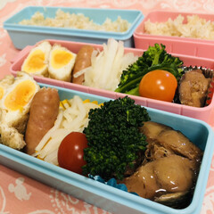 あげ/たまご/大根/柚子/ウインナー/ブロッコリー/... 今日のお弁当  イワシの煮付け(缶詰) …