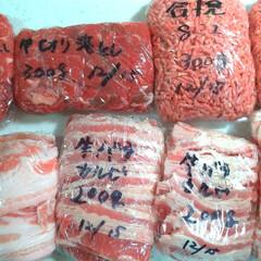 肉/冷凍保存/冷凍ストック 先程の肉はこうなりました。お疲れ様でした…