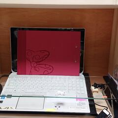にゃんこ同好会/猫パソコン/キジトラ 猫ブロック‼️ の、目的でキーボードは、…(2枚目)