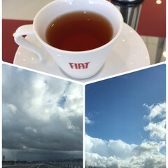 空模様/忙しい天気/風が強い/紅茶/曇り空/晴れ空/... 晴れたり…曇ったり…☆  おでかけしまし…