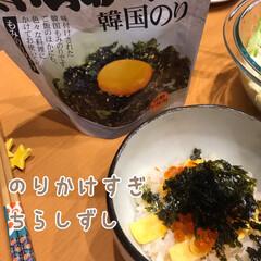 美味しい/かけすぎ/ぶっかけ/韓国のり/のりたっぷり/ちらし寿司/... のりたっぷり ちらし寿司☆  ひな祭りな…