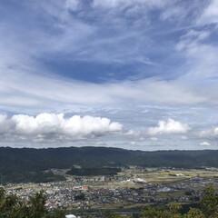 平野/坂戸山/夏の雲/秋の空/登山/秋/... 秋の空と夏の雲☆