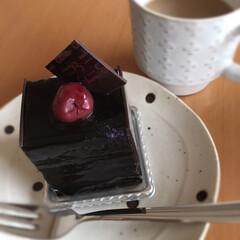 フランボワーズ/ブラックチョコ/コーヒー/カフェオレ/ドット柄/マグカップ/... 3時のコーヒー☆  シュクレのケーキでコ…