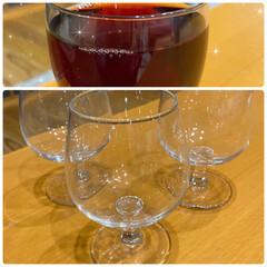 ハマってる/ブランデーグラス/お気に入り/カルボナーラ/ワイングラス ワイングラスとカルボナーラ☆  上のお気…(1枚目)