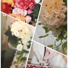 思い出/私の/ケーキ/ブーケ/お花/結婚式 私の結婚式☆  どんなブーケだったかと♪…