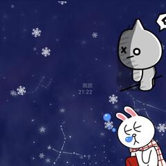 雪が降る/雪/ライン/クリスマス LINEに雪が降り出した☆  LINEが…