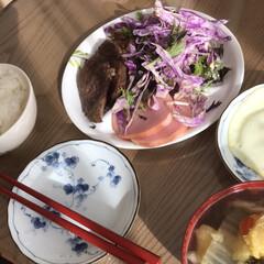 牛肉/実家/ステーキ/ランチ/おうちごはん お昼から牛ステーキ☆  おうちごはんでお…