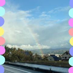 〆はレトルトカレー/ホタテのバター醤油焼き玉子添え/お酒のつまみ/止まってパシャリ/今日は冷たい雨/虹/... 晴れ間の虹☆  今日はほぼ1日冷たい雨で…