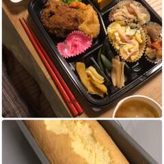 お夕飯/美味しい/失敗/パウンド/プレーン/手作り/... お弁当とケーキ☆  昨夜のお弁当♪ いた…(1枚目)