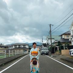 ファッション #成人式前撮り #手づくり髪飾り(4枚目)