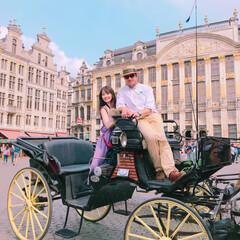 ブリュッセル/馬車/旅 ブリュッセル グラン=プラス 馬車に、乗…(1枚目)