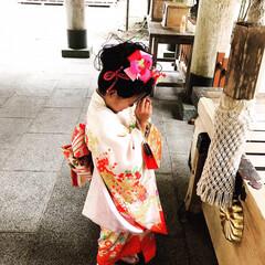 高原狭原神社⛩/七五三/姪 姪っこ。 何を祈っているのでしょう? お…(1枚目)