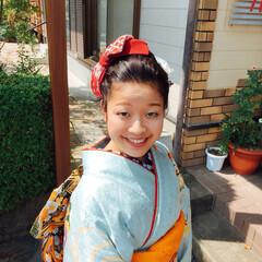 ファッション #成人式前撮り #手づくり髪飾り(3枚目)