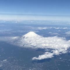 飛行機/ANA/日本/富士山/おでかけ/リミアの冬暮らし 羽田から宮崎へ 明るい時間なら、右席を予…