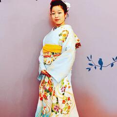 ファッション #成人式前撮り #手づくり髪飾り(2枚目)
